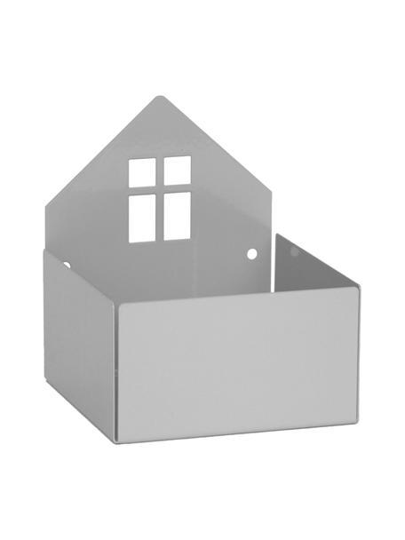 Aufbewahrungsbox Town House, Metall, pulverbeschichtet, Grau, 11 x 13 cm