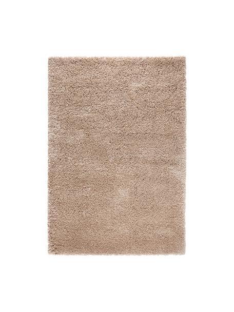 Flauschiger Hochflor-Teppich Venice in Braun, Flor: 100% Polypropylen, Braun, B 200 x L 290 cm (Grösse L)