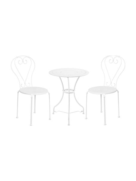 Balkon-Set Century in Weiß, 3-tlg., Metall, pulverbeschichtet und lackiert, Weiß, Set mit verschiedenen Größen