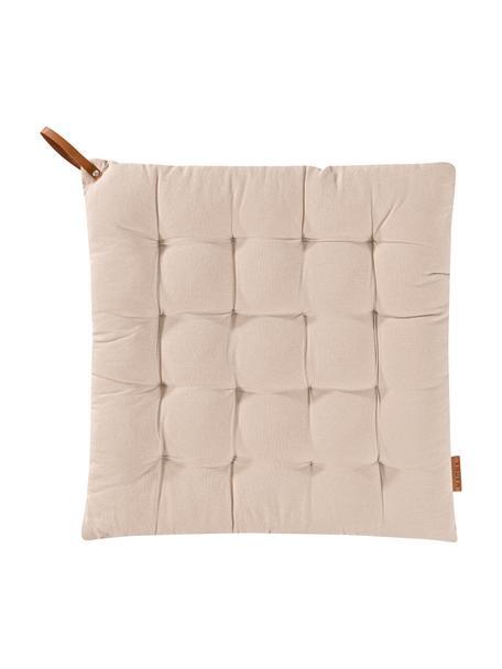 Poduszka na siedzisko Billie, 100% bawełna, Beżowy, S 40 x D 40 cm