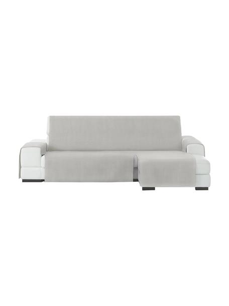 Funda de sofá Levante, 50%algodón, 50%poliéster, Gris verdoso, Brazo corto (240 cm)