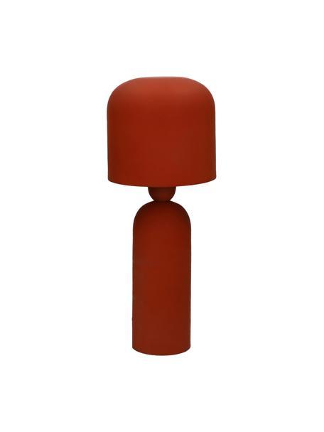 Lámpara de mesa Bul, Pantalla: metal recubierto, Cable: plástico, Rojo terracota, Ø 15 x Al 35 cm