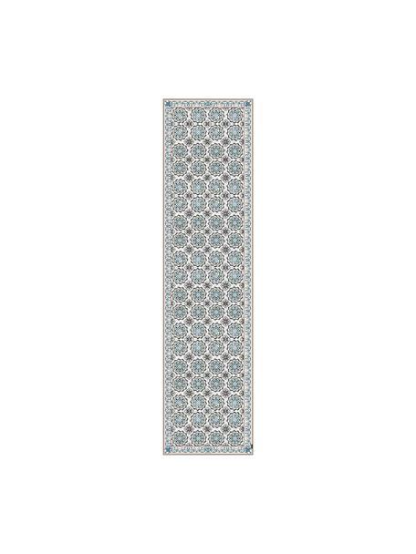 Vinyl-Bodenmatte Selina, Vinyl, recycelbar, Beige, Braun, Blau, 65 x 255 cm