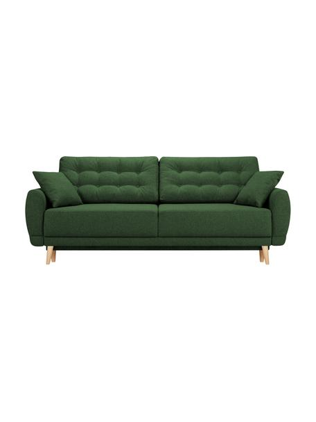 Divano letto 3 posti in tessuto verde Spinel, Verde, Larg. 236 x Prof. 93 cm