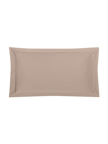 Funda de almohada de satén Premium, Gris pardo, An 45 x L 85 cm