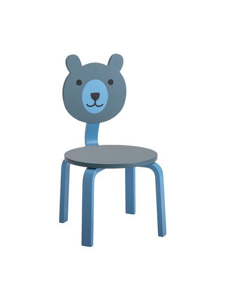 Sedia orsetto Bear, Pannello di fibra a media densità (MDF) verniciato, Tonalità blu, verde, Larg. 32 x Alt. 60 cm