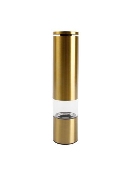 Kruidenmolen Sheda in goudkleurig, Acryl, kunststof (ABS), edelstaal, keramiek, Messingkleurig, transparant, Ø 5 x H 22 cm