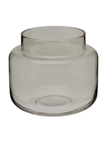 Glazen vaas Lasse, medium, Glas, Grijs, transparant, Ø 16 x H 14 cm