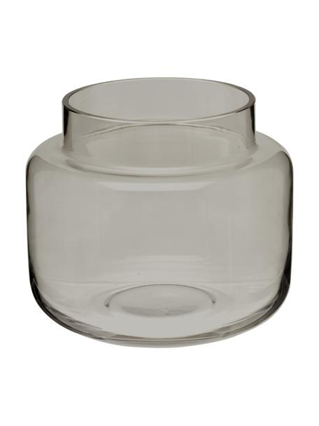 Jarrón mediano de vidrio Lasse, Vidrio, Gris transparente, Ø 16 x Al 14 cm