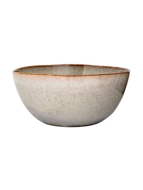 Handgefertigte Schüssel Sandrine, Ø 26 cm, Keramik, Hellgrau, Ø 26 x H 17 cm