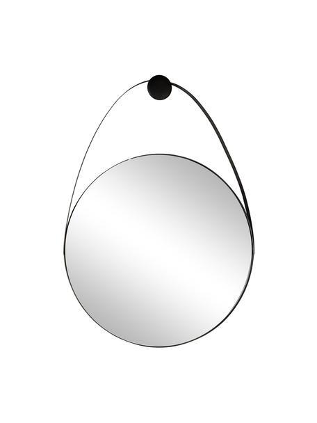 Wandspiegel Kieran mit schwarzem Metallrahmen, Rahmen: Metall, beschichtet, Spiegelfläche: Spiegelglas, Schwarz, 61 x 88 cm
