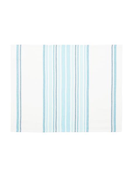 Podkładka Katie, 2 szt., Bawełna, Biały, niebieski, S 40 x D 50 cm