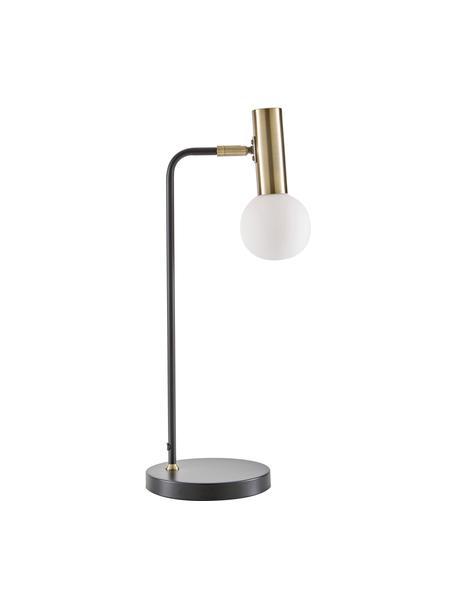 Duża lampa biurkowa ze szklanym kloszem Wilson, Czarny, Ø 22 x W 54 cm