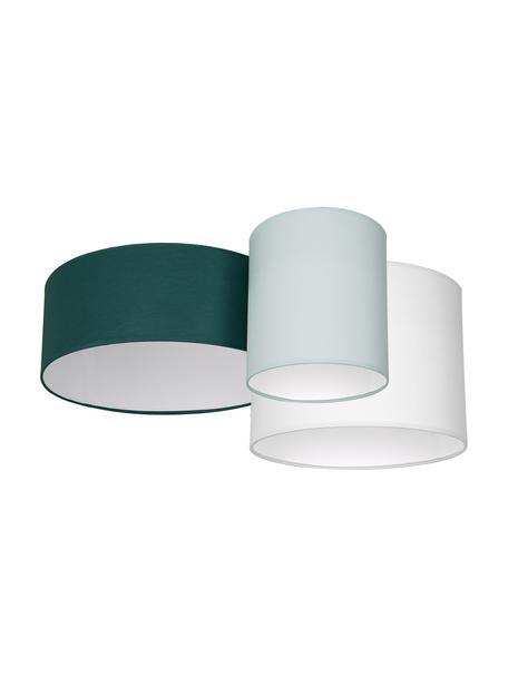 Plafón Stan, Pantalla: poliéster, algodón, Verde, verde pistacho, blanco, An 70 x Al 27 cm