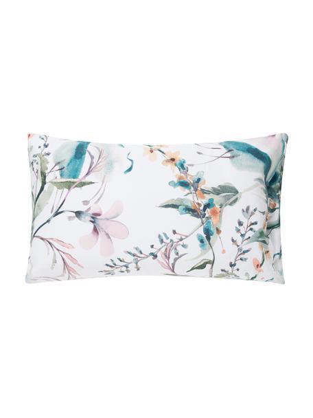 Fundas de almohada de satén Casandra, 2uds., Agodón satinado, Verde, rosa azul, amarillo, blanco, An 50 x L 80 cm