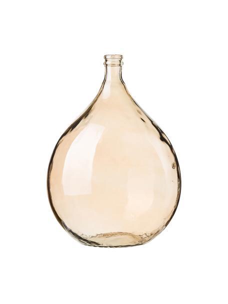 Vaso da terra in vetro riciclato Drop, Vetro riciclato, Ambra, Ø 40 x Alt. 56 cm