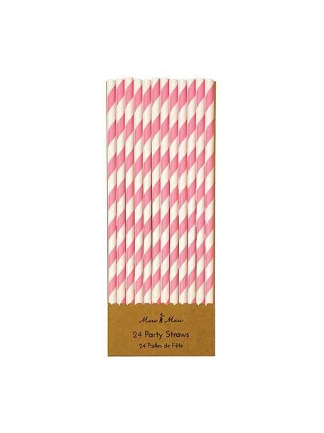 Cannucce Agni, 24 pz., Carta, Bianco, rosa, Ø 1 x Alt. 20 cm