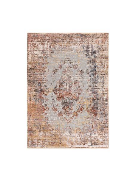 Tappeto Valencia, Retro: 70% cotone, 30% poliester, Tonalità beige, brunastro, tonalità grigie, Larg. 120 x Lung. 170 cm (taglia S)