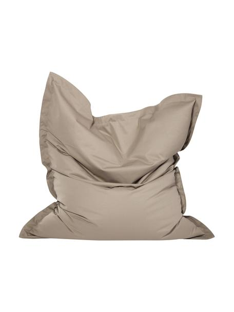 Poltrona sacco grande Meadow, Rivestimento: poliestere, poliuretano, , Grigio, Larg. 130 x Alt. 160 cm