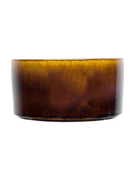 Ręcznie wykonana miseczka Quintana, 2 szt., Porcelana, Odcienie bursztynowego, brązowy, Ø 14 cm