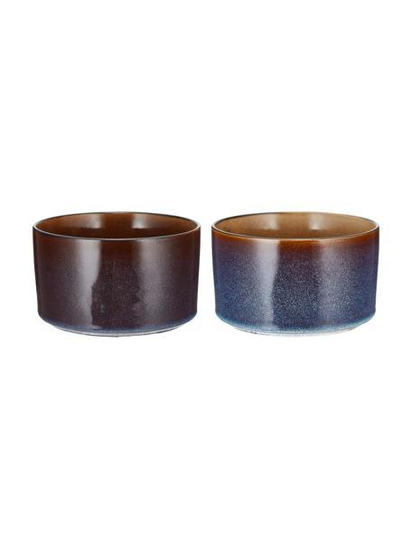 Ciotola fatta a mano con sfumatura ambrata Quintana 2 pz, Porcellana, Ambra, marrone, Ø 14 cm