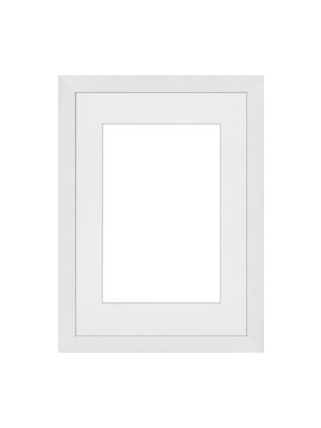 Bilderrahmen Apollon, Rahmen: Monterey-Kiefernholz, lac, Front: Glas, Rückseite: Mitteldichte Holzfaserpla, Weiss, 21 x 30 cm