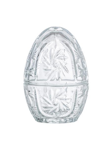 Aufbewahrungsdose Egg, Glas, Transparent, Ø 10 x H 14 cm