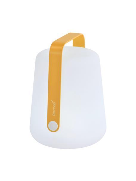 Mobile LED-Außenleuchte Balad, Lampenschirm: Polyethen, für den Außenb, Griff: Aluminium, lackiert, Gelb, Ø 19 x H 25 cm