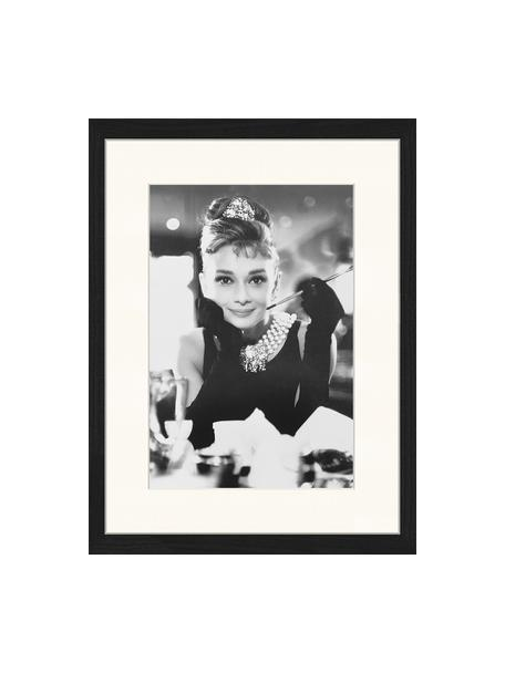 Impresión digital enmarcada Breakfast At Tiffanys, Negro, blanco, An 33 x Al 43 cm