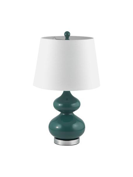 Lampada da tavolo Felicitas 2 pz, Paralume: cotone, Base della lampada: vetro verniciato, Verde, Ø 35 x Alt. 58 cm