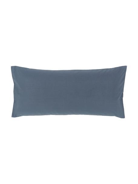 Baumwollperkal-Kissenbezüge Elsie in Blau, 2 Stück, Webart: Perkal Fadendichte 200 TC, Blau, 40 x 80 cm