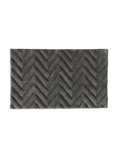 Flauschiger Badvorleger Arild in Grau, 100% Baumwolle, Dunkelgrau, 50 x 80 cm