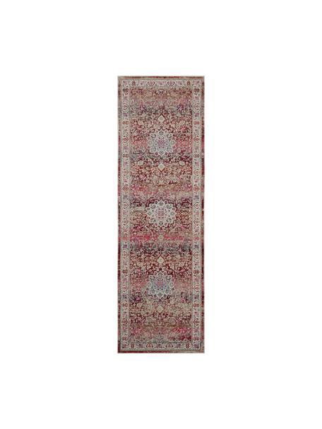 Laagpolige loper Kashan Age in Oriënt stijl, Bovenzijde: 100% polypropyleen, Onderzijde: latex, Beige, roodtinten, 60 x 180 cm