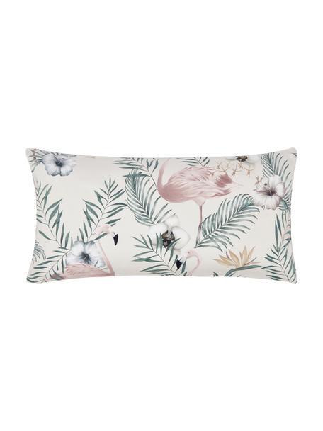 Poszewka na poduszkę z satyny bawełnianej Elliana, 2 szt., Beżowy, blady różowy, zielony, S 40 x D 80 cm