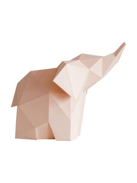 Lampada da tavolo in carta Baby Elephant, Paralume: carta, 160g/m², Rosa, Larg. 23 x Alt. 24 cm