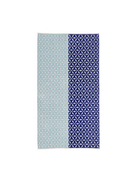 Telo mare Lemonade, Retro: cotone, qualità leggera, Blu, Larg. 100 x Lung. 180 cm