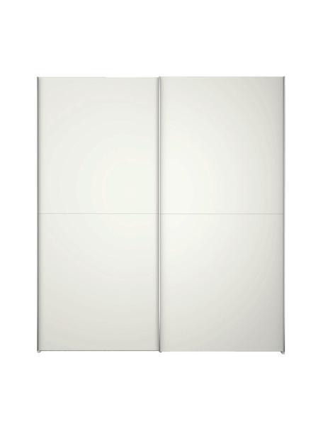 Witte kledingkast Oliver met schuifdeuren, Frame: panelen op houtbasis, gel, Wit, 252 x 225 cm