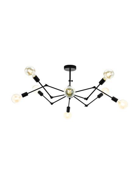 Grote plafondlamp Exmoor, verstelbaar, Zwart, Ø 110 x H 39 cm
