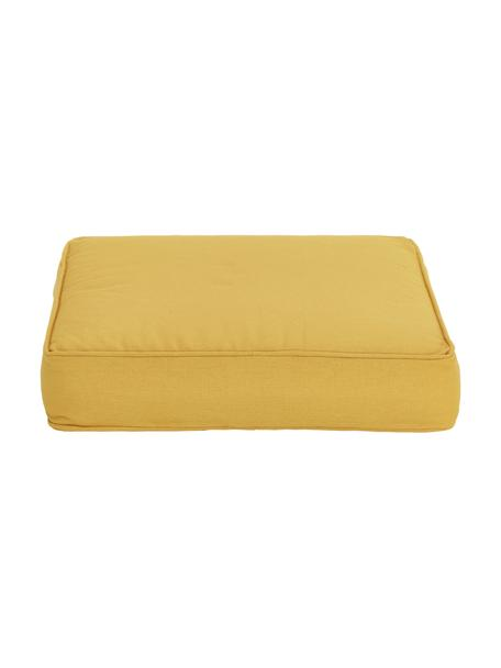Cojín de asiento Zoey, Funda: 100%algodón, Amarillo, An 40 x L 40 cm