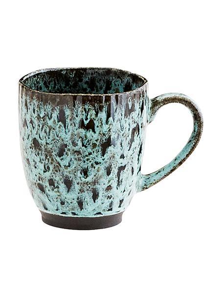 Filiżanka Vingo, 2 szt., Kamionka, Niebieskozielony, czarny, Ø 10 x W 11 cm