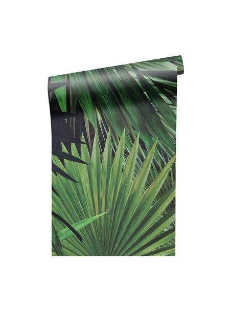 Papel pintado Palm Leaves, Tejido no tejido, ecológica y biodegradable, Verde, An 98 x L 280 cm