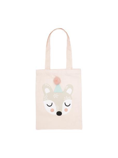 Bolso de algodón ecológico Bear Bibi, 100%algodón ecológico, Rosa, beige, blanco, negro, verde menta, An 25 x Al 32 cm