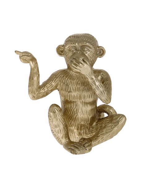 Dekoracja Monkey, Poliresing, Odcienie złotego, S 14 x W 15 cm