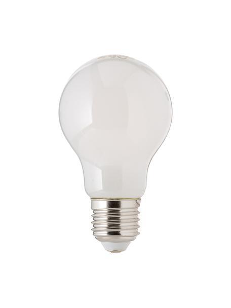 Lampadina E27 4.6W, bianco caldo, 1 pz, Paralume: vetro opale, Base lampadina: alluminio, Bianco, Ø 6 x Alt. 10 cm