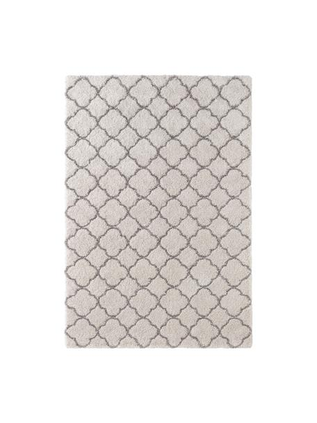 Hochflor-Teppich Luna in Creme/Grau, Flor: 100% Polypropylen, Creme, Grau, B 80 x L 150 cm (Grösse XS)