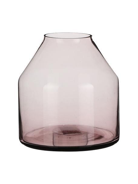 Kleine Glas-Vase Farah, Glas, Lila, transparent, Ø 15 x H 15 cm