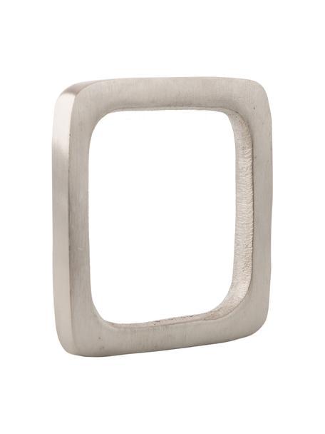 Servetringen Squark, 4 stuks, Vernikkeld aluminium, Nikkelkleurig, 5 x 5 cm