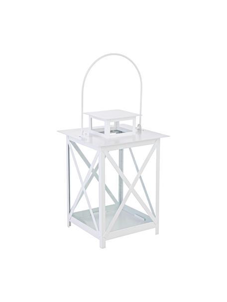 Farolillo Flaies, Estructura: metal, recubierto, Blanco, An 17 x Al 25 cm