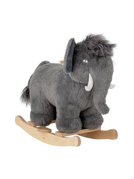 Schaukeltier Mammoth, Bezug: Polyester, Gestell: Pappelholz, Grau, 34 x 64 cm