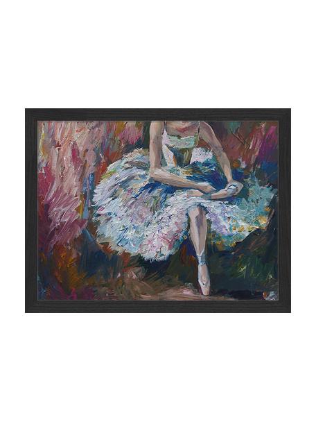 Gerahmter Digitaldruck Ballerina Painting, Bild: Digitaldruck auf Papier, , Rahmen: Holz, lackiert, Front: Plexiglas, Mehrfarbig, 43 x 33 cm